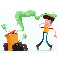 Stinky garbage vector