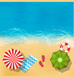 summer beach landscape with sand water vector image