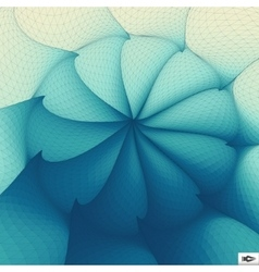 Torsion And Rotation Movement Art Mosaic vector image