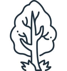 Tree icon editable stroke linear symbol vector