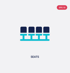 Two color seats icon from football concept vector