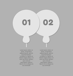 two puzzle jigsaw circles line info graphic vector image
