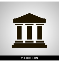 University icon solid vector image