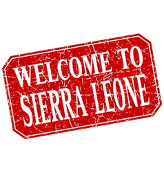 Welcome to Sierra Leone red square grunge stamp vector