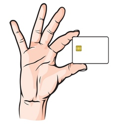 Credit Card in Hand vector image vector image