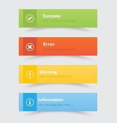 Elegant web notifications vector image
