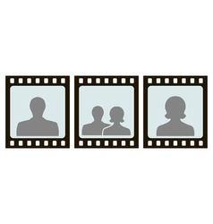 frame for photo slide vector image vector image