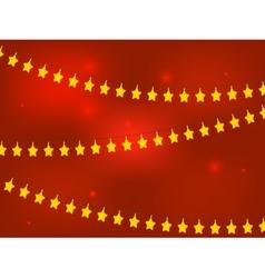 Golden Christmas Stars vector image vector image