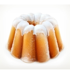 Lemon cake icon vector image vector image