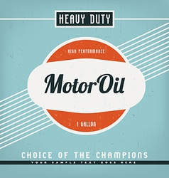Motor Oil Label vector image vector image