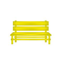 Rural bench in yellow design vector