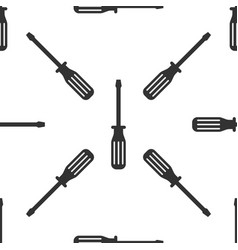 screwdriver icon seamless pattern on white vector image vector image