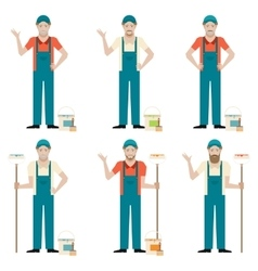 Set of Painters vector image