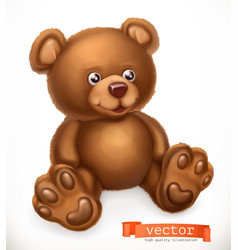 toy bear 3d icon vector image vector image