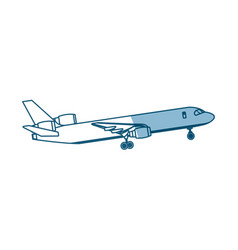 airplane passenger commercial transport outline vector image vector image