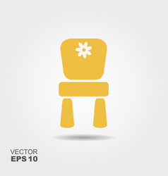 chair for children flat icon vector image vector image