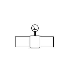 gas pipe icon vector image