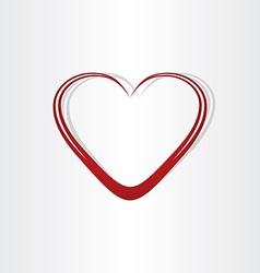 heart shape text box frame vector image