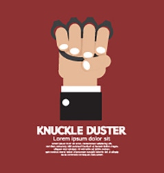 Knuckle Duster In Hand Graphic vector image