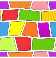 Seamless comic pattern vector image