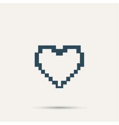 Simple stylish pixel icon heart design vector image