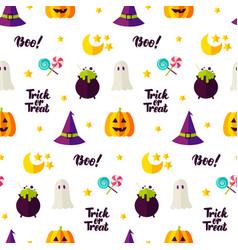 halloween treat seamless pattern vector image vector image