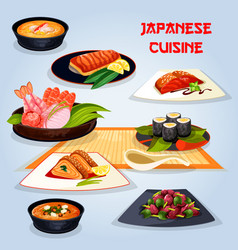 japanese cuisine popular dishes for lunch icon vector image