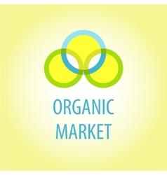 Organic market logo vector image vector image