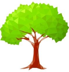 polygonal tree vector image