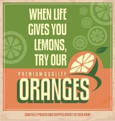 Retro orange poster design vector image vector image
