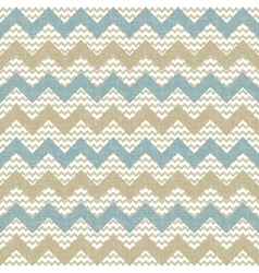 Seamless chevron pattern on linen texture vector image vector image