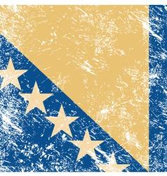 Bosnia and herzegovina retro flag vector