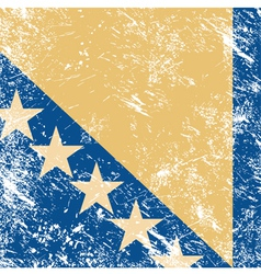 Bosnia and Herzegovina retro flag vector image
