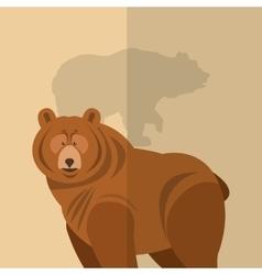 brown bear icon image vector image vector image