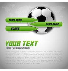 Football score green buttons vector