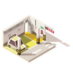 isometric low poly underground car parking vector image vector image