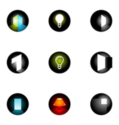 logo design elements set 33 vector image vector image