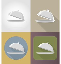 objects for food flat icons 01 vector image vector image