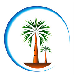 palm trees icon cartoon vector image vector image