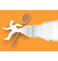 Quick chef paper concept vector image vector image