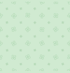 seamless pattern with with four petals flowers vector image vector image