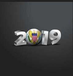2019 grey typography with virgin islands us flag vector