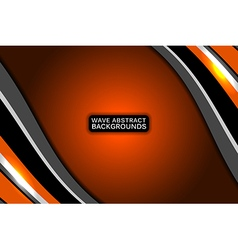 Abstract business orange background vector