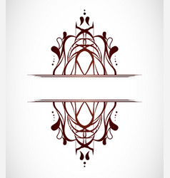 Abstract ornamental shape vector