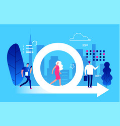 agile management business and life vector image