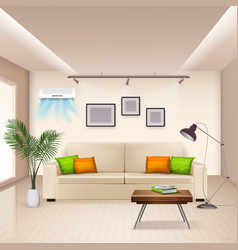 Air conditioner background vector