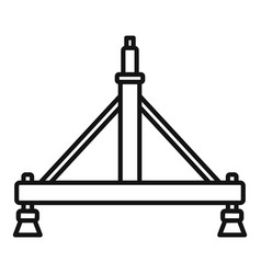Aircraft repair stand icon outline style vector