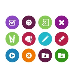 Application interface circle icons vector image