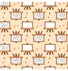 Art tools and materials seamless pattern vector image