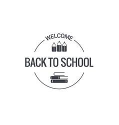 back to school logo design background vector image